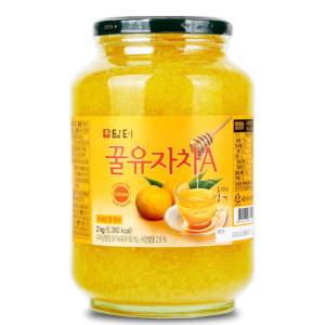 [담터] 담터 꿀유자차A 2kg+전용포장/생강차/유자청 : 대용량~