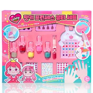[핑크공주] 어린이 화장품 선물 세트 유아 매니큐어 여아 립스틱