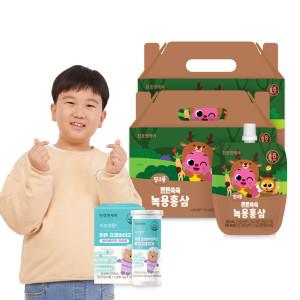 [천호엔케어] 튼튼쑥쑥 어린이 녹용홍삼 40ml 30팩 2박스(총60팩)