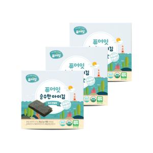 오가닉 순수한 아이김 김엔천일염 3+1팩
