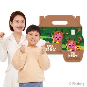 [천호엔케어] 어린이 튼튼쑥쑥 녹용홍삼 40ml 30팩 1박스