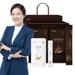 [천호엔케어] 녹용홍삼진 스틱 60포 선물세트+쇼핑백증정