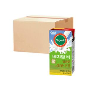 [베지밀] 베지밀B 달콤한 고칼슘두유 190ml 16팩 x4박스
