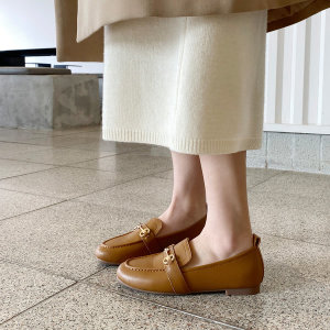 [소보제화] 클래식 골드체인 키높이 여성로퍼 (2.5cm)