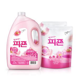 [피죤] 섬유유연제 피죤2300ml 6개 핑크+메쉬파우치