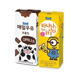 매일우유 초코 24팩+바나나는하얗다 24팩