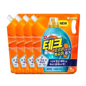 [테크] 테크 특유취 액체세제 일반리필 2Lx4 +300mlx2개
