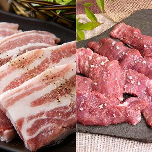 돼지 삼겹살 250g4팩+갈매기250g2팩/총6팩2+1다짐육증