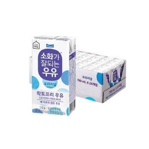 [매일유업] 매일 소화가잘되는우유 멸균 190ML 24팩