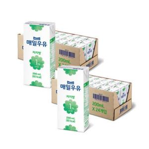 [매일우유] 매일 멸균우유 저지방 1프로 200ML 48팩
