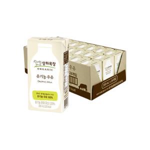 [10%+10%카드] 상하목장우유 190ML 24팩