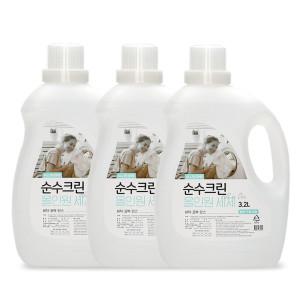 [순수크린] 순수크린 올인원 액체세제 3.2L X 4개 /세제유연제