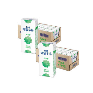 [매일우유] 매일 멸균우유 저지방 1프로 200ML 48팩 무배