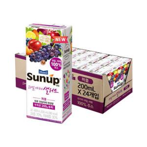 [썬업] 매일 과일야채샐러드 퍼플 200ml 24팩/주스/음료수