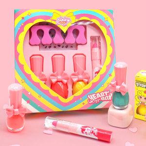 [핑크공주] 핑키 하트선물세트 유아매니큐어 어린이립스틱 화장품