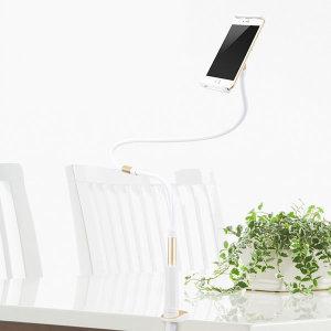 [요이치] 브라이트 침대 스마트폰 자바라 거치대-골드 120cm