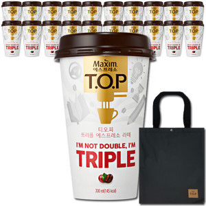 TOP 트리플라떼 300mlx20컵+무드등+쿠폰