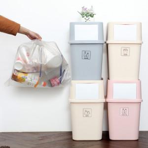 [가쯔] 마카롱다용도재활용분리수거함 대3p+봉투100장+스티커