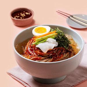 행복막국수 비빔막국수 소포장 4인분(면4봉+비빔장4봉)