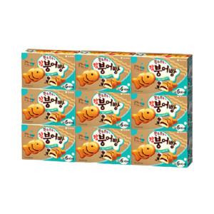 [참붕어빵] 오리온 붕어빵 6P 174gX9개(1박스)