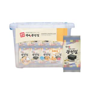 백제광천김 도시락김 32봉+리빙박스 증정