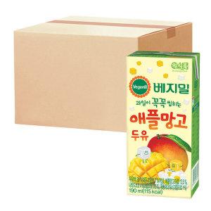 [베지밀] 베지밀 과일이 꼭꼭 씹히는 애플망고 두유 190ml  64팩