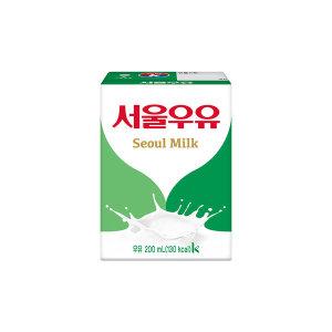 서울 멸균우유 200ml X 24팩/흰우유
