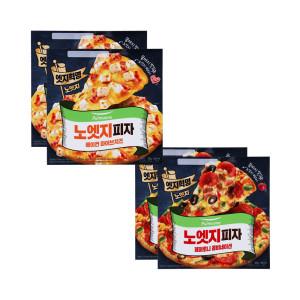 노엣지 피자 파이브치즈2판+콤비네이션2판