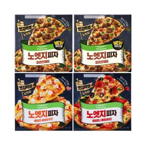 [풀무원] 노엣지꽉찬토핑피자 4판(불고기2+치즈1+콤비네이션1)