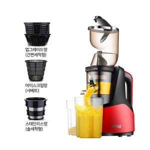 [샤오미] MIUI 착즙기 녹즙기 원액기 믹서기  JE-B03B레드세트