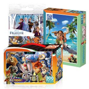 디즈니 직소퍼즐 100/300/500피스 - 겨울왕국 모아나