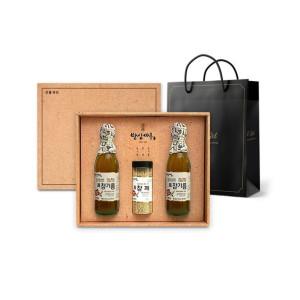 밥상마루 선물세트 참기름2병+참깨+쇼핑백