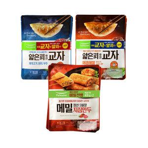 풀무원 교자만두 고기/해물 각2봉+메밀만두2봉