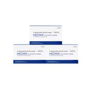국산제조 클린스왑 일회용 알콜솜 3박스 300매