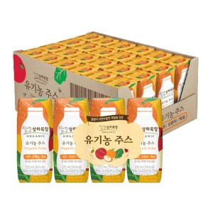 [상하목장] 상하목장 유기농 사과오렌지케일 주스 125ml 24팩