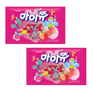 [마이쮸] 마이쮸 딸기+복숭아 720g 2봉