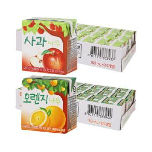 [서울우유] 사과나무/오렌지나무 150ml 24입+24입 (2박스)
