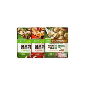 얇은피 고기/김치만두 각2봉+육즙만두 2봉