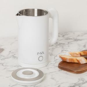 [미라스] 무선 전기 포트 주전자 커피 포트 화이트 MS0422-HW