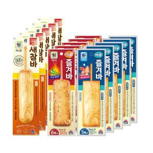 [15%쿠폰] 매콤즐겨 x5+해물즐겨바x5+튀긴새참바x10