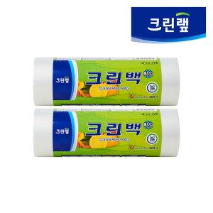 [크린랲] 위생비닐롤백/ 크린랩 롤타입 크린백 (중 500매 x 2P)