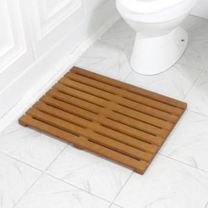 [가쯔] 원목욕실매트일반형엔틱 발판 원목발받침대 테이블
