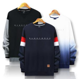 [블루포스] 겨울신상 맨투맨티/기모 빅사이즈 커플티셔츠 남자옷