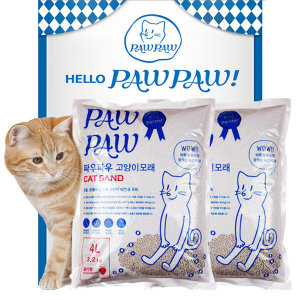 [파우파우] 박스포장/  파우파우 응고형 벤토나이트 고양이 모래