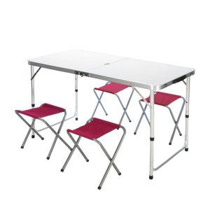 [카르닉] 캠핑 폴딩테이블 야외테이블 CT-001(화이트)+의자4개