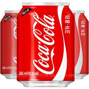 예원FnB/코카콜라 콜라 245ml x 24캔/사이다/콜라
