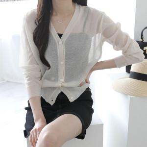 제니트 루즈핏 가디건 니트 조끼 여성 코트 스웨터