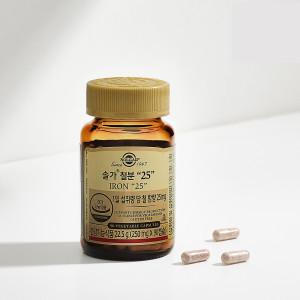 [솔가] 철분 25 (90캡슐/3개월분) 철분제 본사직영