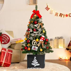 1m-1.5m 크리스마스트리+전구장식 풀세트 벽트리