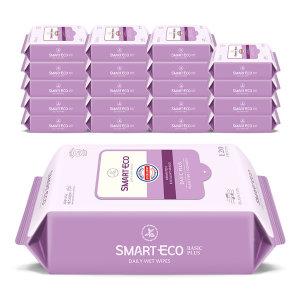 [스마트에코] 대박찬스 스마트에코물티슈 대용량120매 10+10팩